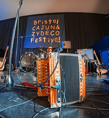 Accordion on-stage setup (photo credit: Nick Barber)