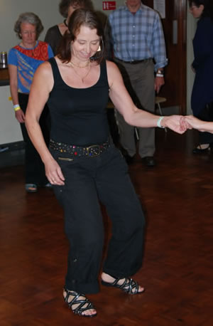 Kay Anderson teaching a zydeco workshop