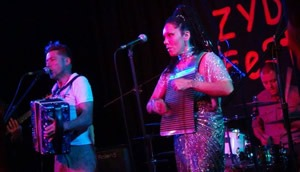 Zydeco Diamonds on stage